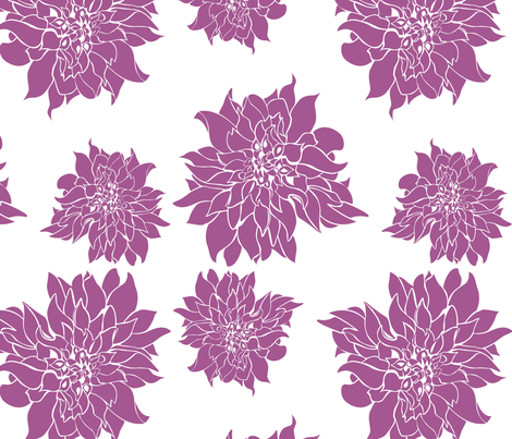 Villa Orchid fabric by arboreal on Spoonflower - custom fabric