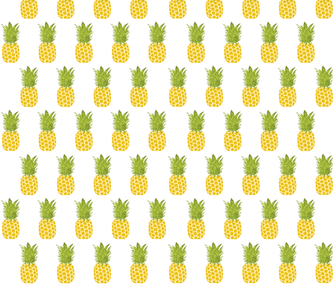 Pineapple in Rows fabric by bella_modiste on Spoonflower - custom fabric