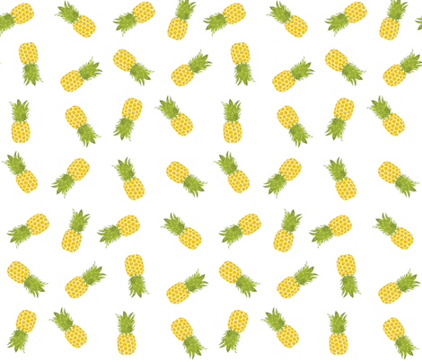 Pineapples  fabric by bella_modiste on Spoonflower - custom fabric