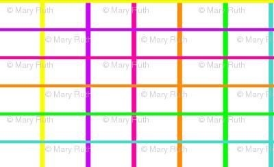 neon grid white