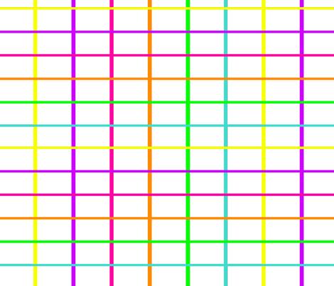 neon grid white fabric by essieofwho on Spoonflower - custom fabric