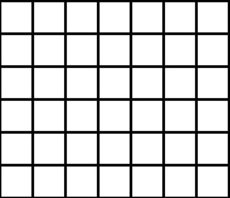 grid_black_white_3x3 fabric by mspiggydesign on Spoonflower - custom fabric