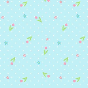 Ditsy Spotty Floral blue