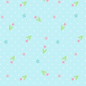 Ditsy Spotty Floral blue