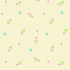 Ditsy Spotty Floral lemon