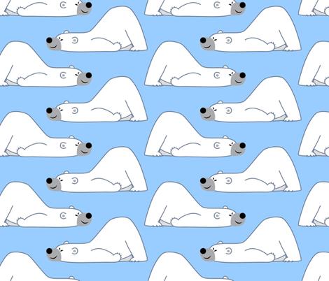 Funny Cartoon Polar Bear Blue by Cheerful Madness!! fabric by cheerfulmadness_cartoons on Spoonflower - custom fabric