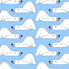 Funny Cartoon Polar Bear Blue by Cheerful Madness!!