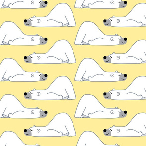 Fun-Loving Cartoon Polar Bear Yellow By Cheerful Madness!!