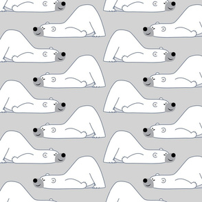 Funny Cartoon Polar Bear Grey by Cheerful Madness!!