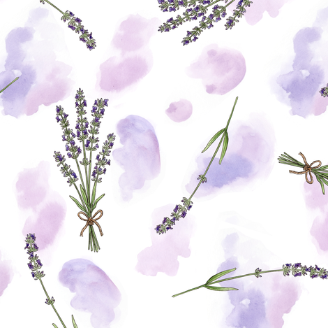 Lavender Watercolour fabric by hazel_fisher_creations on Spoonflower - custom fabric