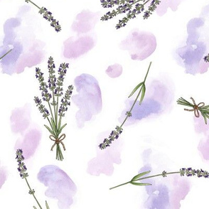 Lavender Watercolour - large scale