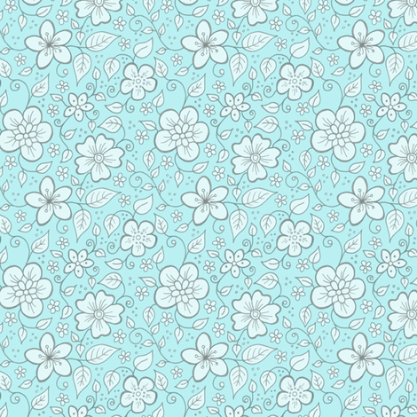 Martha Floral fabric by hazel_fisher_creations on Spoonflower - custom fabric