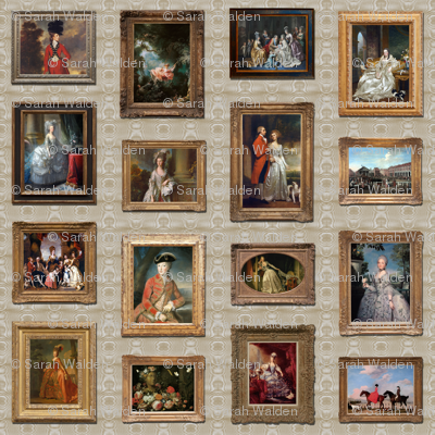 Maison Sassafras des Chouchous ~ Museum Wall ~ Dollhouse