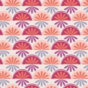 Orange slices in a pink world