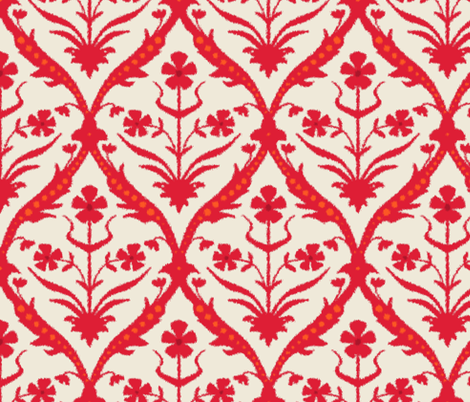 Lohita trellis ikat fabric by scrummy on Spoonflower - custom fabric