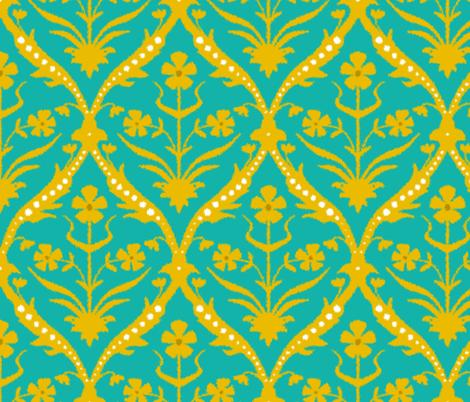 Yasmita trellis ikat fabric by scrummy on Spoonflower - custom fabric