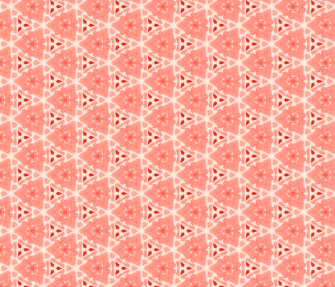 Sea Coral Triangle fabric by ingridrest on Spoonflower - custom fabric