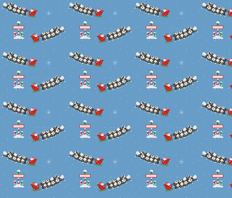 Happy Pawlidays fabric by virtualmommy on Spoonflower - custom fabric