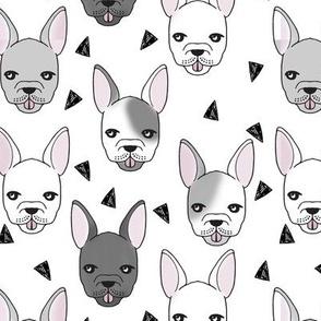 french bulldog // bulldog frenchie dog breed fabric bulldogs cute dog