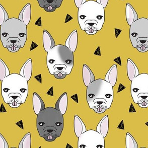 french bulldog // frenchie cute dog dogs dog breed fabric mustard