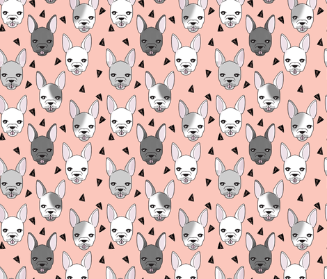 french bulldog // frenchie dog dog breed fabric frenchie fabric cute dog  fabric by andrea_lauren on Spoonflower - custom fabric