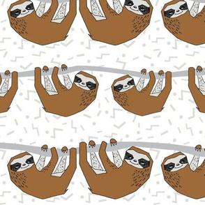 Geo Sloth - Brown by Andrea Lauren