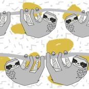 Geo Sloth - Mustard by Andrea Lauren