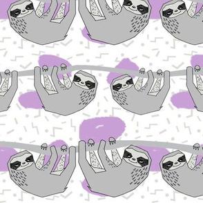 Geo Sloth - Wisteria by Andrea Lauren