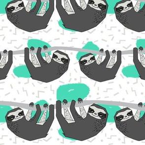 Geo Sloth - Jade by Andrea Lauren
