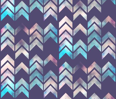 Chevron Dream Purple fabric by beththompsonart on Spoonflower - custom fabric