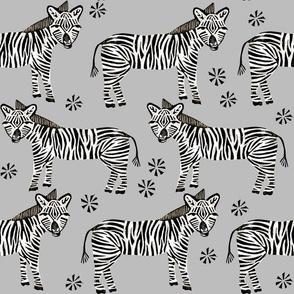 Safari Zebra - Grey by Andrea Lauren