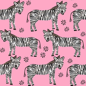 Safari Zebra - Bubblegum Pink by Andrea Lauren