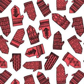Mittens - Red by Andrea Lauren