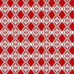 Holiday Diamonds Red White