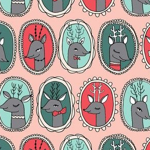 Reindeer Frame - Pink by Andrea Lauren