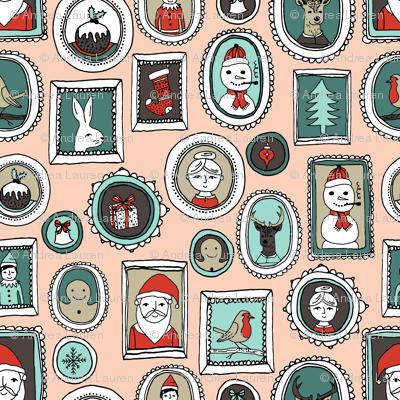christmas portraits // cute xmas holiday fabric kids cute snowman design