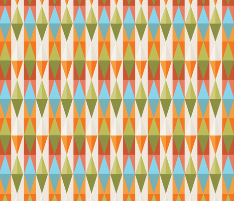 triangle_floral_colorsV2 fabric by tinastextiles on Spoonflower - custom fabric