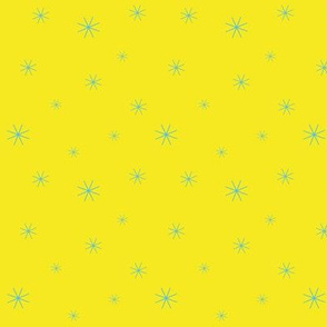 Sparkle Stars - Yellow and Blue