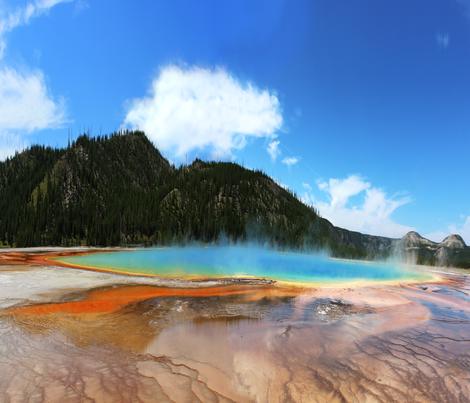 Yellowstone - Grand Prismatic Spring on Fat Quarter fabric by joyfulrose on Spoonflower - custom fabric