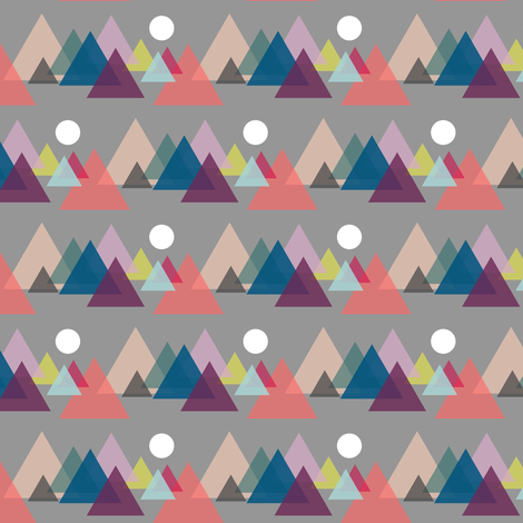 The mountains are calling... fabric by b__woolf on Spoonflower - custom fabric