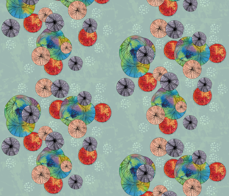 Solar system fabric by lizplummer on Spoonflower - custom fabric