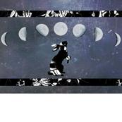 Moon Rabbit with White Border
