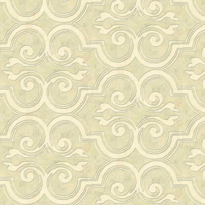 arabesque on celadon