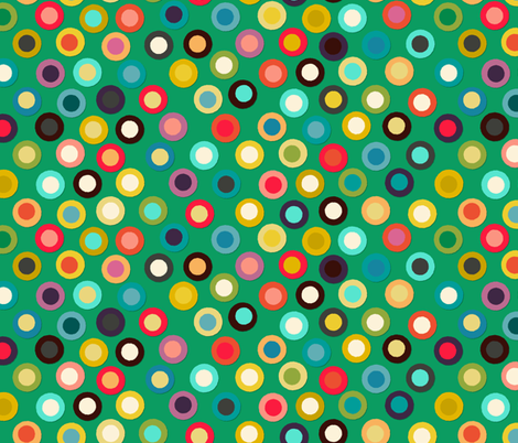 green pop spot fabric by scrummy on Spoonflower - custom fabric