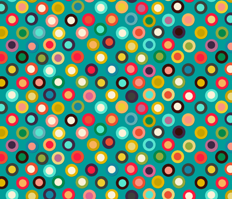 turquoise pop spot fabric by scrummy on Spoonflower - custom fabric