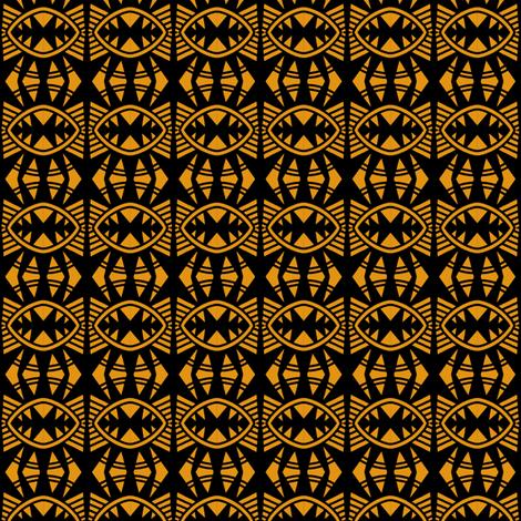 Bat Wings 2 Gold Black fabric by eve_catt_art on Spoonflower - custom fabric
