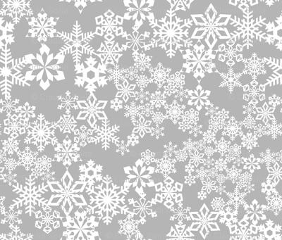 Snowflakes Gray