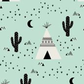 Teepee - Mint Background