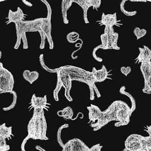 Teacher's Pet Chalkboard Cats