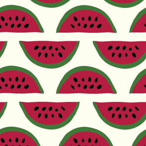 Red watermelon stripes